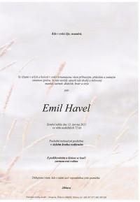 Nejbližší rozloučení - Emil Havel