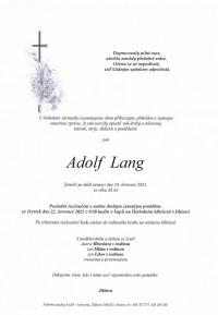 Adolf Lang