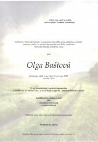 Nejbližší rozloučení - Olga Baštová