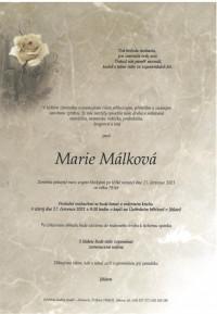 Nejbližší rozloučení - Marie Málková