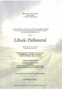 Nejbližší rozloučení - Libuše Pallanová
