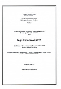 Mgr. Ema Nováková