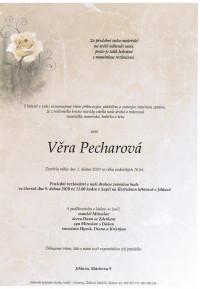 Nejbližší rozloučení - Věra Pecharová