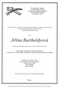 Nejbližší rozloučení - Jiřina Bartheldyová