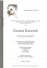 Nejbližší rozloučení - Zuzana Kuncová