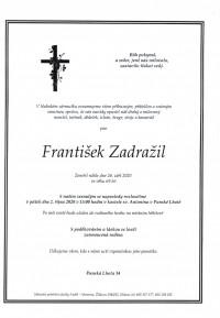 Nejbližší rozloučení - František Zadražil