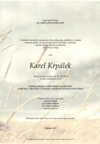 Nejbližší rozloučení - Karel Krpálek